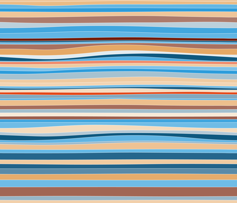 colorful lines fabric by klivenkova on Spoonflower - custom fabric
