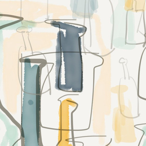 Abstract bottles from TAN HAUR 005 tile - SpoonFL