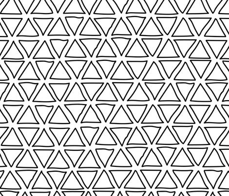 doodle triangles fabric by klivenkova on Spoonflower - custom fabric