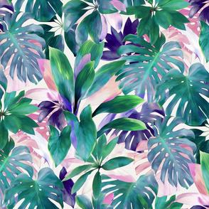 Pastel Summer Tropical Emerald Jungle