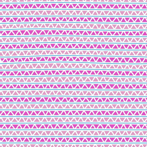 pink and blue lines and triangles