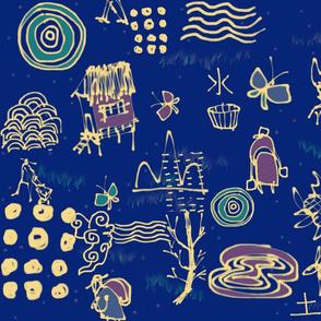 Tan Haur ink creation - pattern 041-tile Spoon FL