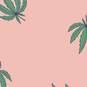 pink retro marijuana
