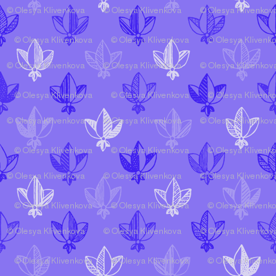violet heraldic pattern