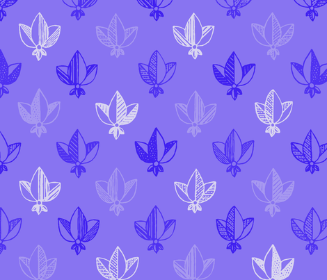 violet heraldic pattern fabric by klivenkova on Spoonflower - custom fabric