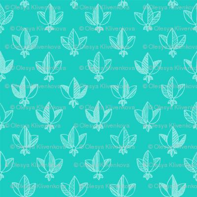 emerald heraldic pattern