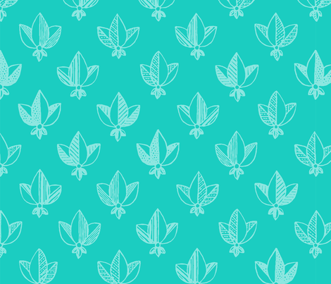 emerald heraldic pattern fabric by klivenkova on Spoonflower - custom fabric