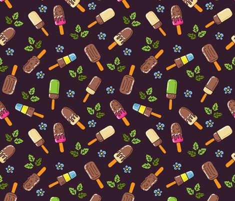 Chocolate Ice cream fabric by tatyana_okhitina on Spoonflower - custom fabric