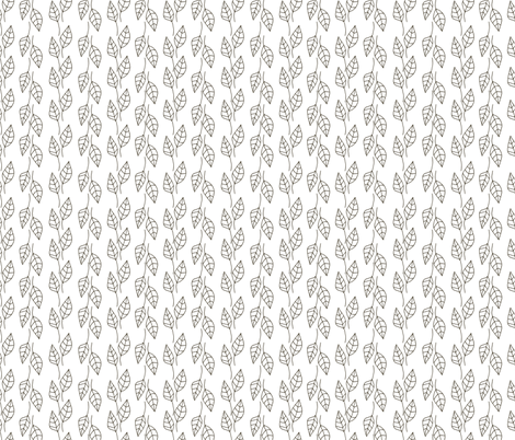 Black and white tree fabric by leffka on Spoonflower - custom fabric