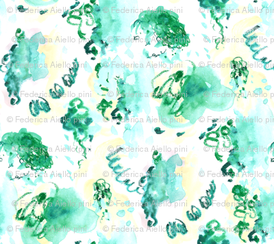 Emerald forest (on white)