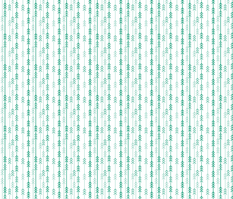 tiny emerald trees fabric by dempsey on Spoonflower - custom fabric