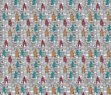 Old buildings fabric by leffka on Spoonflower - custom fabric