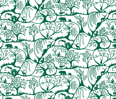Emerald Forest fabric by rose_and_stone on Spoonflower - custom fabric