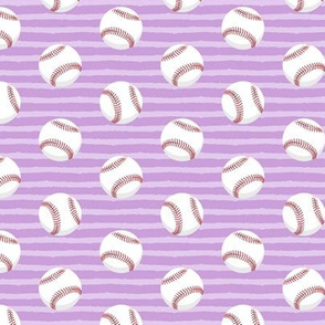 baseballs - red stitching w/ purple stripes C18BS