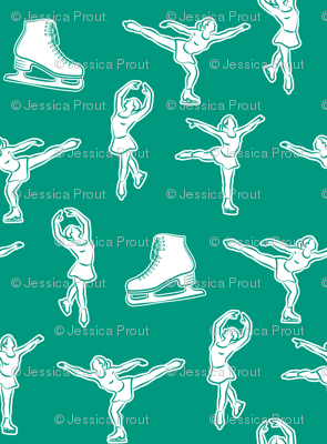 figure skating in green C18BS