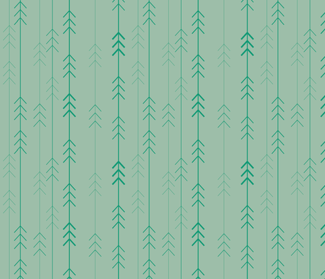 forest 4 the trees jaded fabric by dempsey on Spoonflower - custom fabric