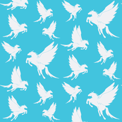 Flock of Pegasus on Turquoise