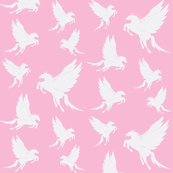 Flock of Pegasus on Pink
