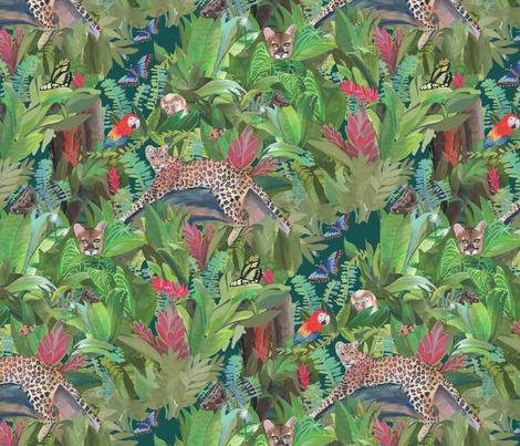 Into the Wild Emerald Forest fabric by daniela_glassop on Spoonflower - custom fabric