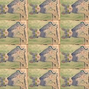 CAT IN REPOSE