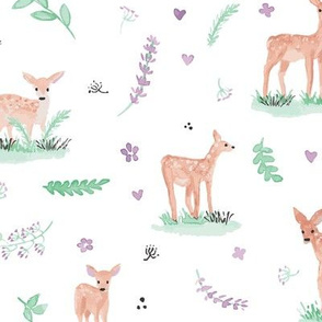 Blake's baby deer with lavender & mint