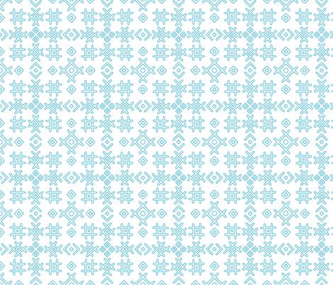 blue ornament  fabric by klivenkova on Spoonflower - custom fabric