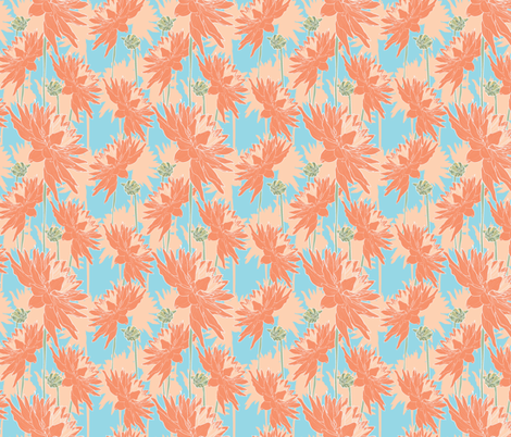 Dahlias fabric by uniqueheartboutique on Spoonflower - custom fabric