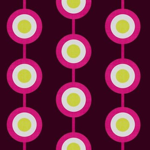 Bullseye Dots in Pink & Lime