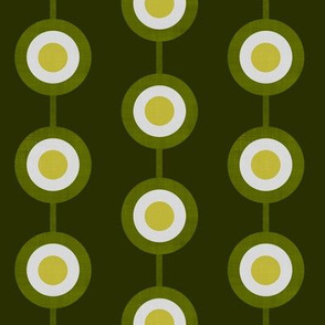 Bullseye Dots in Moss