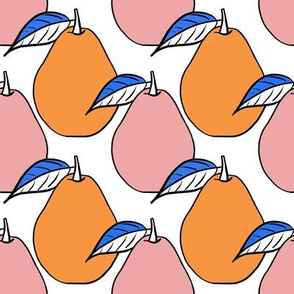 pears - blush and orange