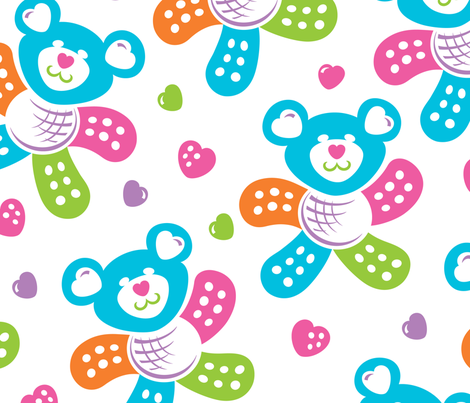 Band-Aid Bears fabric by margodepaulis on Spoonflower - custom fabric