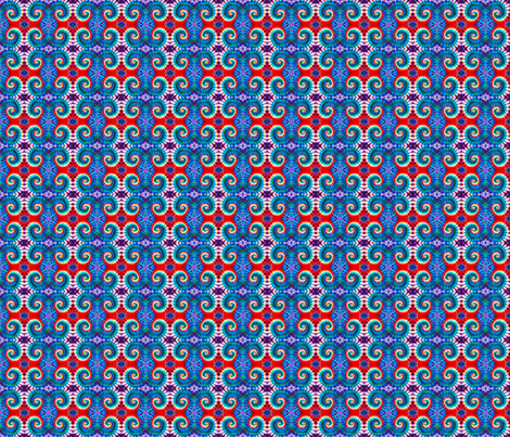 Red, White and Curl fabric by just_meewowy_design on Spoonflower - custom fabric