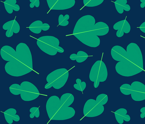 Emerald leaves fabric by anda on Spoonflower - custom fabric
