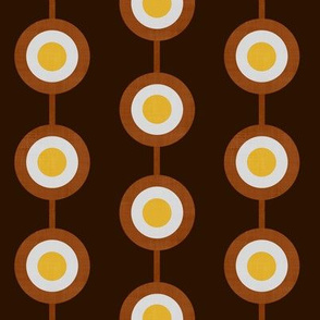 Bullseye Dots in Brown