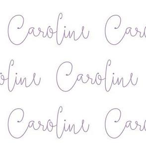 caroline // purple script
