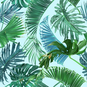 Emerald forest pattern