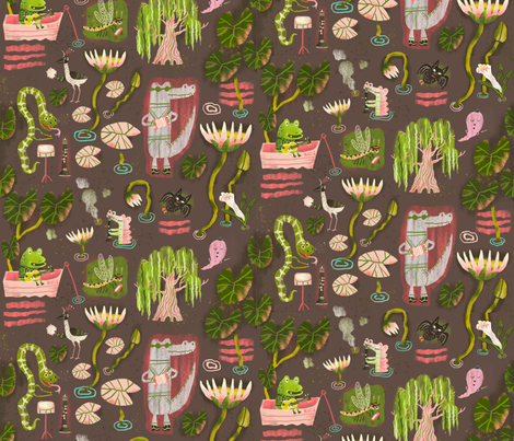 swamp song fabric by skbird on Spoonflower - custom fabric