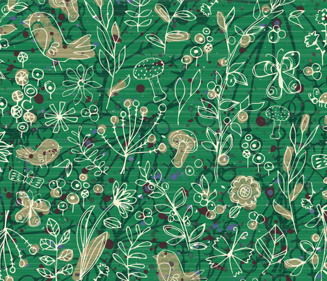 Emerald Forest FieldJournal fabric by sarah_treu on Spoonflower - custom fabric