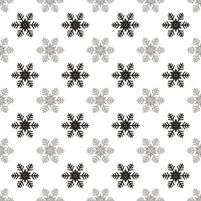 Snowflake Pattern | Black and White