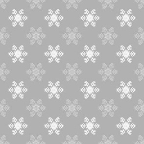 Snowflake Pattern | Grey and White