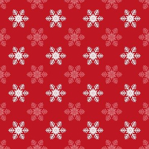 Snowflake Pattern | Red and White