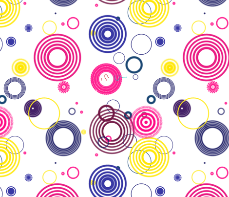 Circular Circles fabric by brudandrade on Spoonflower - custom fabric