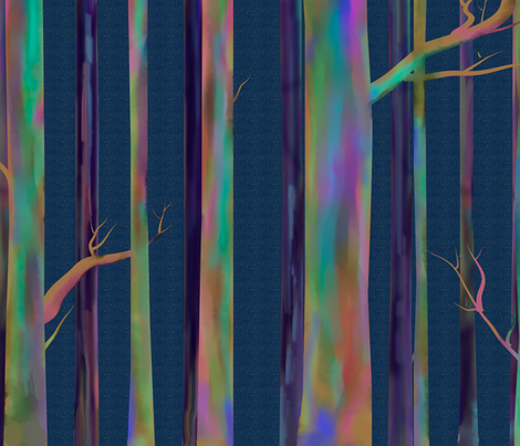 Rainbow Eucalyptus larger print fabric by stasiajahadi on Spoonflower - custom fabric