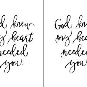 2 per yard of minky // God Knew My Heart Needed You