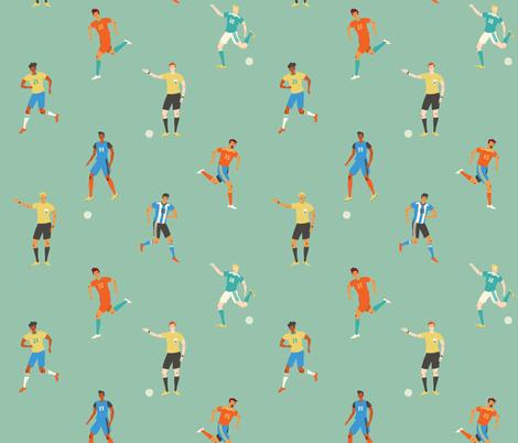 football fabric by solnca_lych on Spoonflower - custom fabric