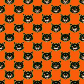 Vintage Cat (on orange)