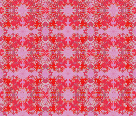 Boho Hippie Poppy and Pink fabric by peaceofpi on Spoonflower - custom fabric