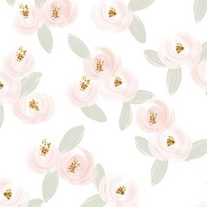 pink rosette // large