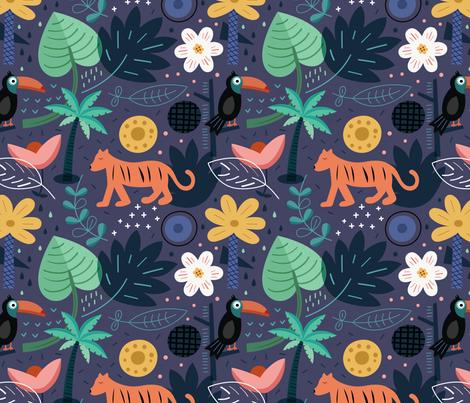 Forest fabric by la_fabriken on Spoonflower - custom fabric
