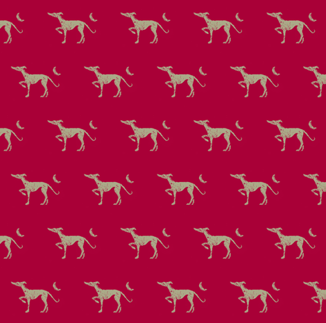 "Dog walking after midnight -martingale 1"" to 2"" fabric by cloudsong_art on Spoonflower - custom fabric"